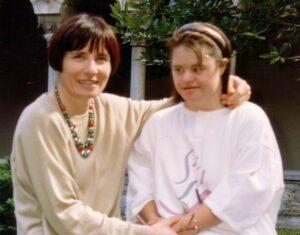 Cristina con la mamma Marilena in una foto di repertorio